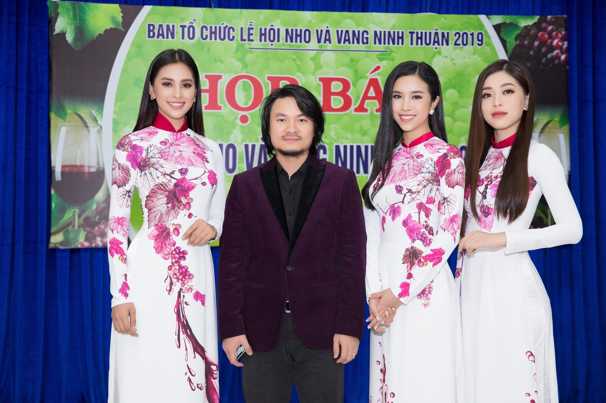 Top 3 Hoa hậu Việt Nam 2018 bắt tay đạo diễn Hoàng Nhật Nam trở thành nữ thần nho - Ảnh 2.