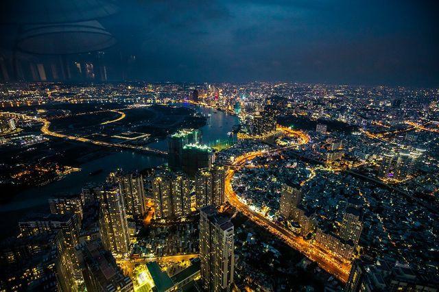 Hé lộ hình ảnh độc nhất vô nhị đầu tiên từ đài quan sát cao nhất Đông Nam Á giữa Sài Gòn - Ảnh 4.