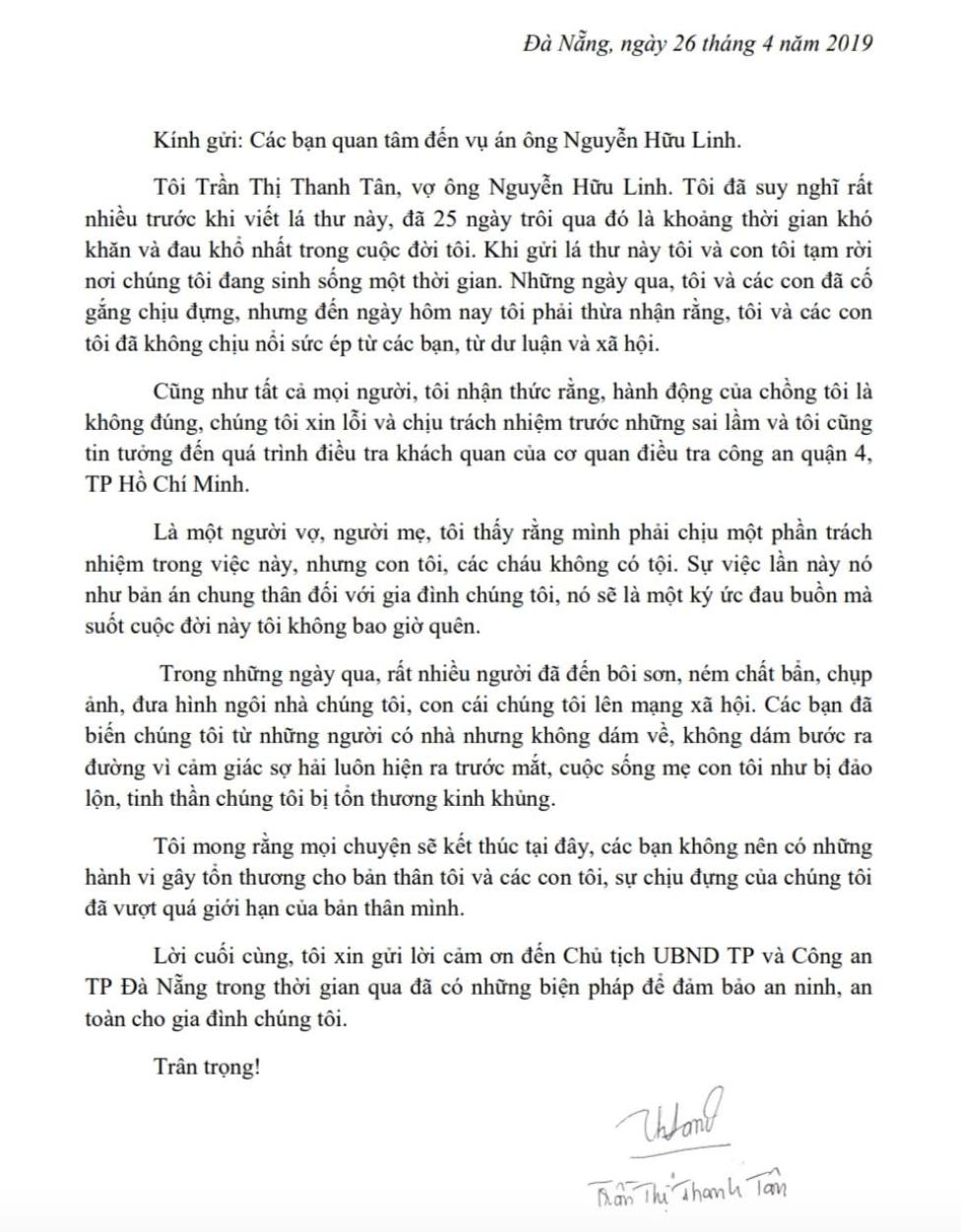 Vợ ông Nguyễn Hữu Linh nói gia đình tổn thương kinh khủng vụ việc chồng bà dâm ô trẻ em? - Ảnh 3.