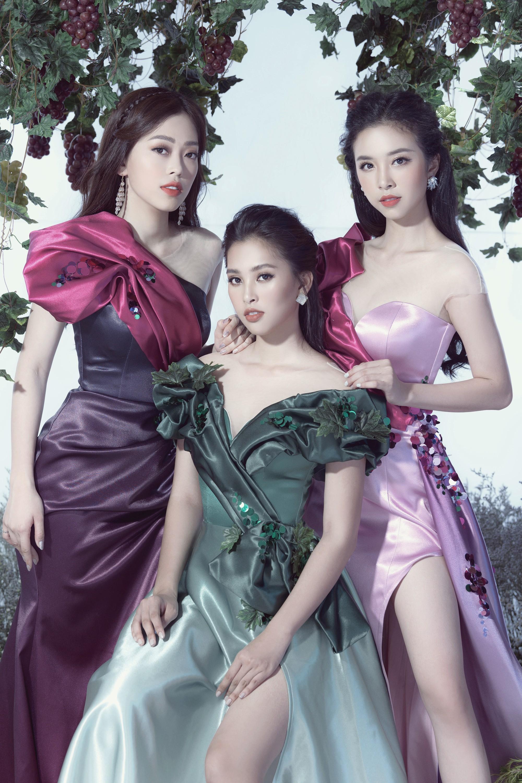 Tiểu Vy, Phương Nga, Thúy An hóa thân thành những nữ thần nho - Ảnh 8.