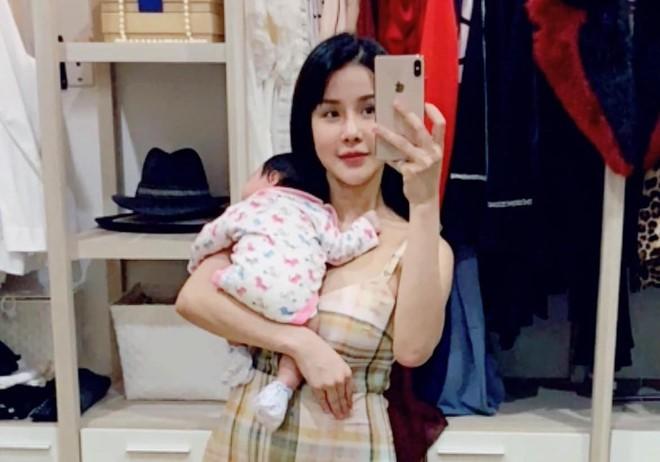 Diệp Lâm Anh mang bầu chỉ sau 5 tháng sinh con gái đầu lòng - Ảnh 1.