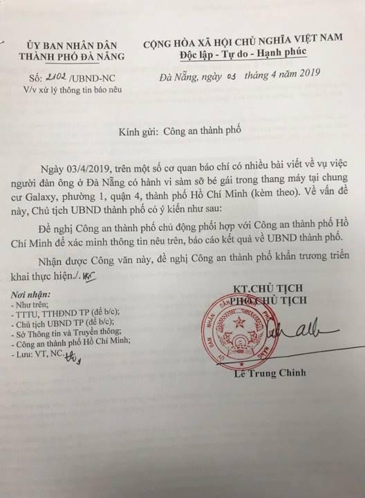Chủ tịch Đà Nẵng lên tiếng vụ cựu Phó viện trưởng VKS sàm sỡ bé gái trong thang máy ở Sài Gòn - Ảnh 1.
