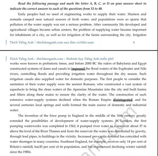 Đề thi thử THPT quốc gia 2019 môn Tiếng Anh THPT Chuyên Bắc Ninh lần 3 và lời giải chi tiết - Ảnh 6.