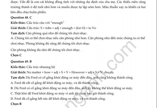 Đề thi thử THPT quốc gia 2019 môn Tiếng Anh THPT Chuyên Bắc Ninh lần 3 và lời giải chi tiết - Ảnh 33.
