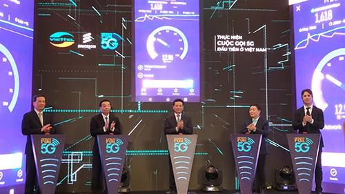 Thử nghiệm cuộc gọi 5G đầu tiên tại Việt Nam - Ảnh 1.