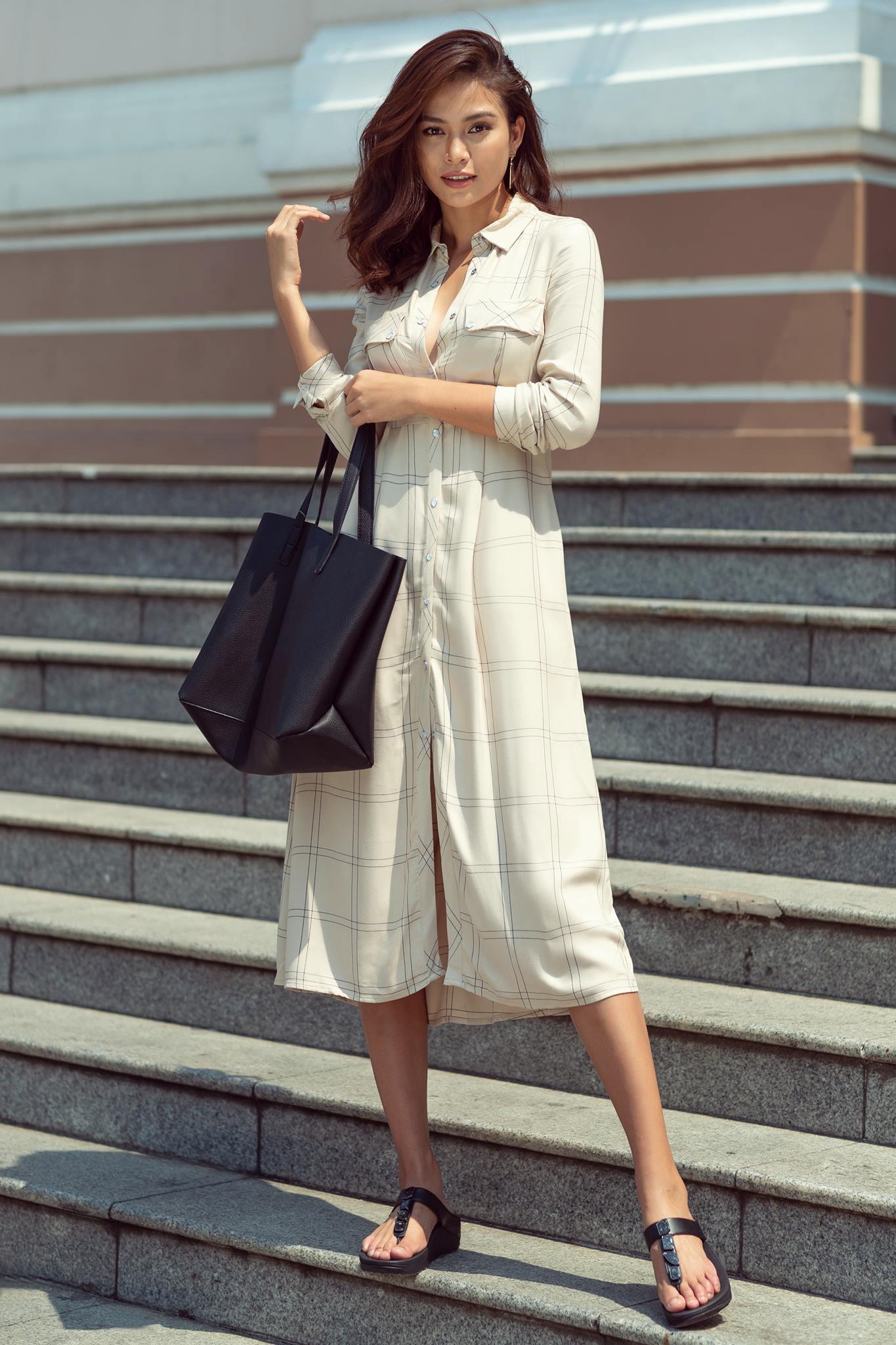 Những chiếc váy giúp Á hậu Mâu Thủy thăng hạng về phong cách - Ảnh 20.