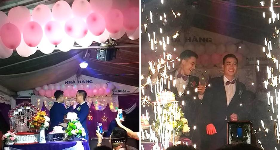 Lộ danh tính cô dâu - chú rể trong đám cưới đồng tính nam ở Kiên Giang mà dân mạng đang rần rần chia sẻ - Ảnh 1.