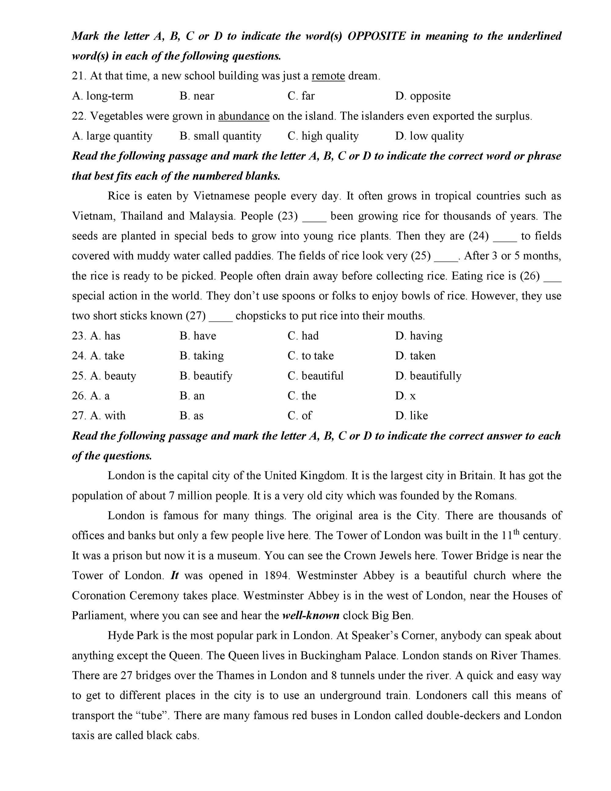 Đề thi thử vào lớp 10 môn Tiếng Anh THPT Hoàng Mai, Hà Nội năm 2019 kèm đáp án chi tiết - Ảnh 3.