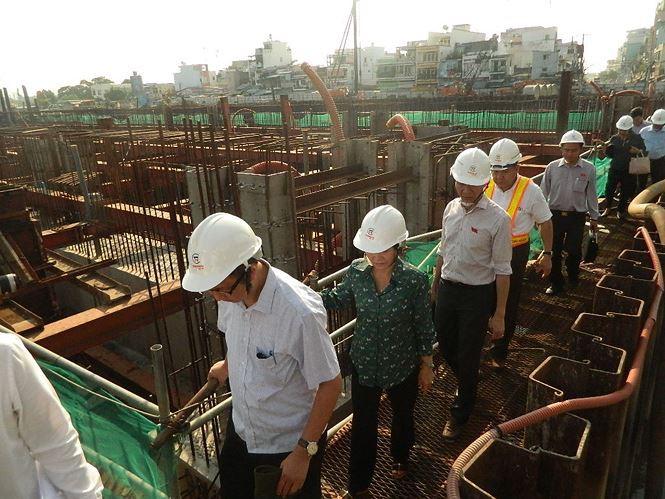 Tân Chủ tịch HĐND TP HCM kiểm tra dự án chống ngập 10.000 tỉ đồng - Ảnh 2.