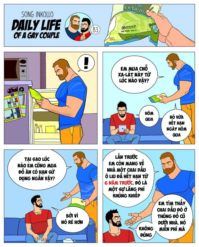 Bộ truyện tranh về cuộc sống thường nhật của một cặp đồng tính (P.2) - Ảnh 4.