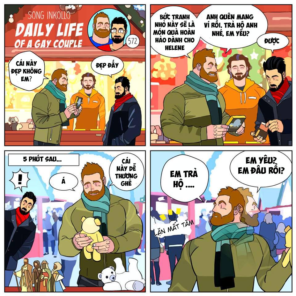 Bộ truyện tranh về cuộc sống thường nhật của một cặp đồng tính (P.2) - Ảnh 6.