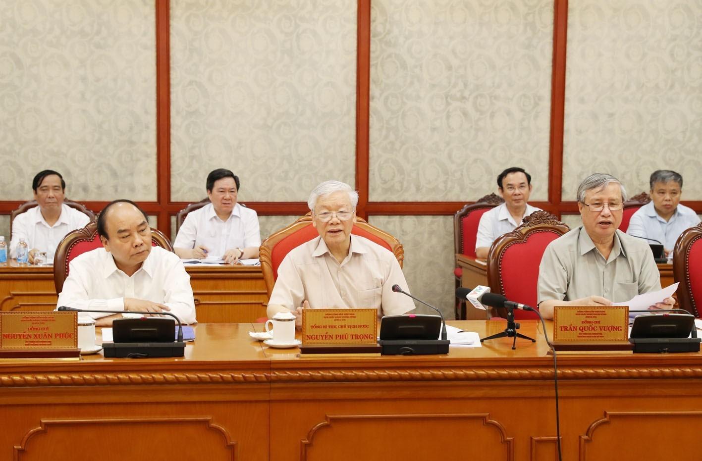 Tổng Bí thư, Chủ tịch nước Nguyễn Phú Trọng chủ trì họp Bộ Chính trị - Ảnh 3.