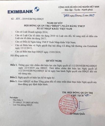Ghế Chủ tịch Eximbank xoay như chong chóng sát ngày đại hội cổ đông lần 2 - Ảnh 1.