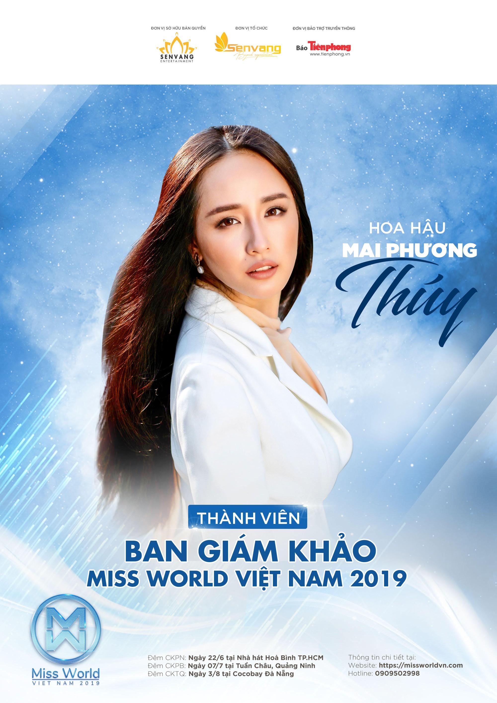 Mai Phương Thúy ngồi ghế nóng Hoa hậu Thế giới Việt Nam 2019  - Ảnh 1.