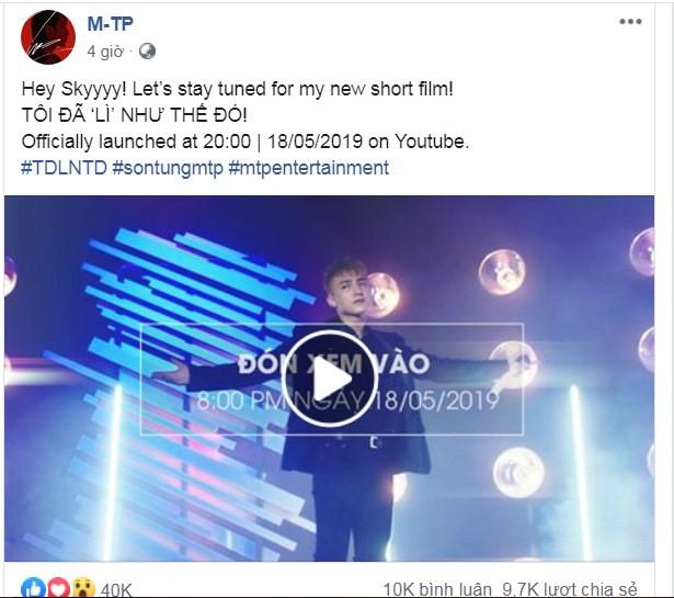 Sao Việt hôm nay (18/5): Sơn Tùng tung teaser phim ngắn, thêm động thái khẳng định Bảo Anh và Hồ Quang Hiếu yêu lại từ đầu - Ảnh 1.