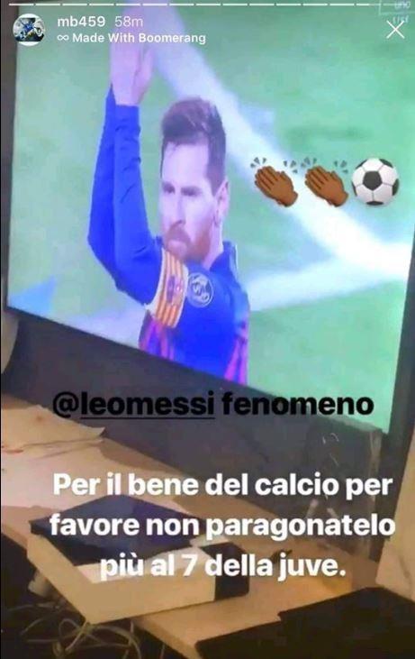 Balotelli chế nhạo Ronaldo trong ngày Messi rực sáng - Ảnh 1.