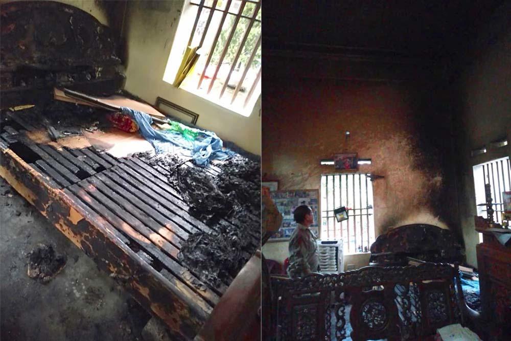 Bắt người phụ nữ tẩm xăng đốt mẹ già ở Hà Nam - Ảnh 1.