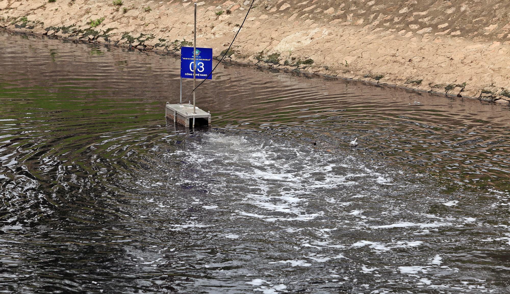 Sau ba ngày thí điểm công nghệ Nhật Bản, sông Tô Lịch thế nào? - Ảnh 2.