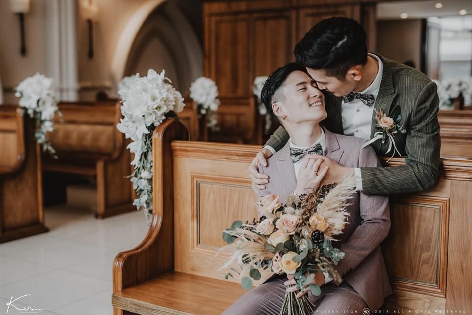 Rò rỉ bộ ảnh cưới lãng mạn của cặp đôi đồng tính nổi tiếng nhất Đài Loan (Trung Quốc) - Ảnh 8.