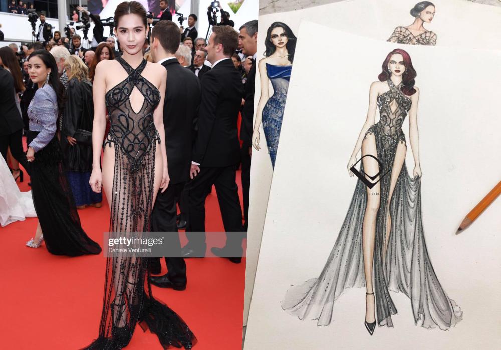 Nghệ sĩ bình phẩm về chiếc váy của Ngọc Trinh tại LHP Cannes: Xấu hổ cả một quốc gia - Ảnh 2.