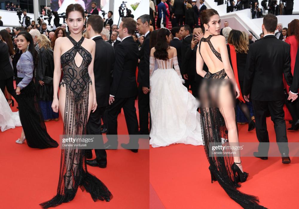 Nghệ sĩ bình phẩm về chiếc váy của Ngọc Trinh tại LHP Cannes: Xấu hổ cả một quốc gia - Ảnh 1.