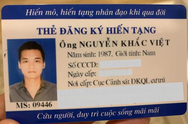 Ca sĩ Khắc Việt đăng kí hiến tạng sau khi qua đời - Ảnh 1.