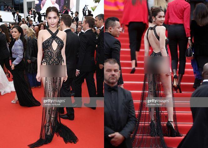 NSƯT Chiều Xuân gây tranh cãi khi bị cho bênh Ngọc Trinh hở bạo ở Cannes - Ảnh 1.