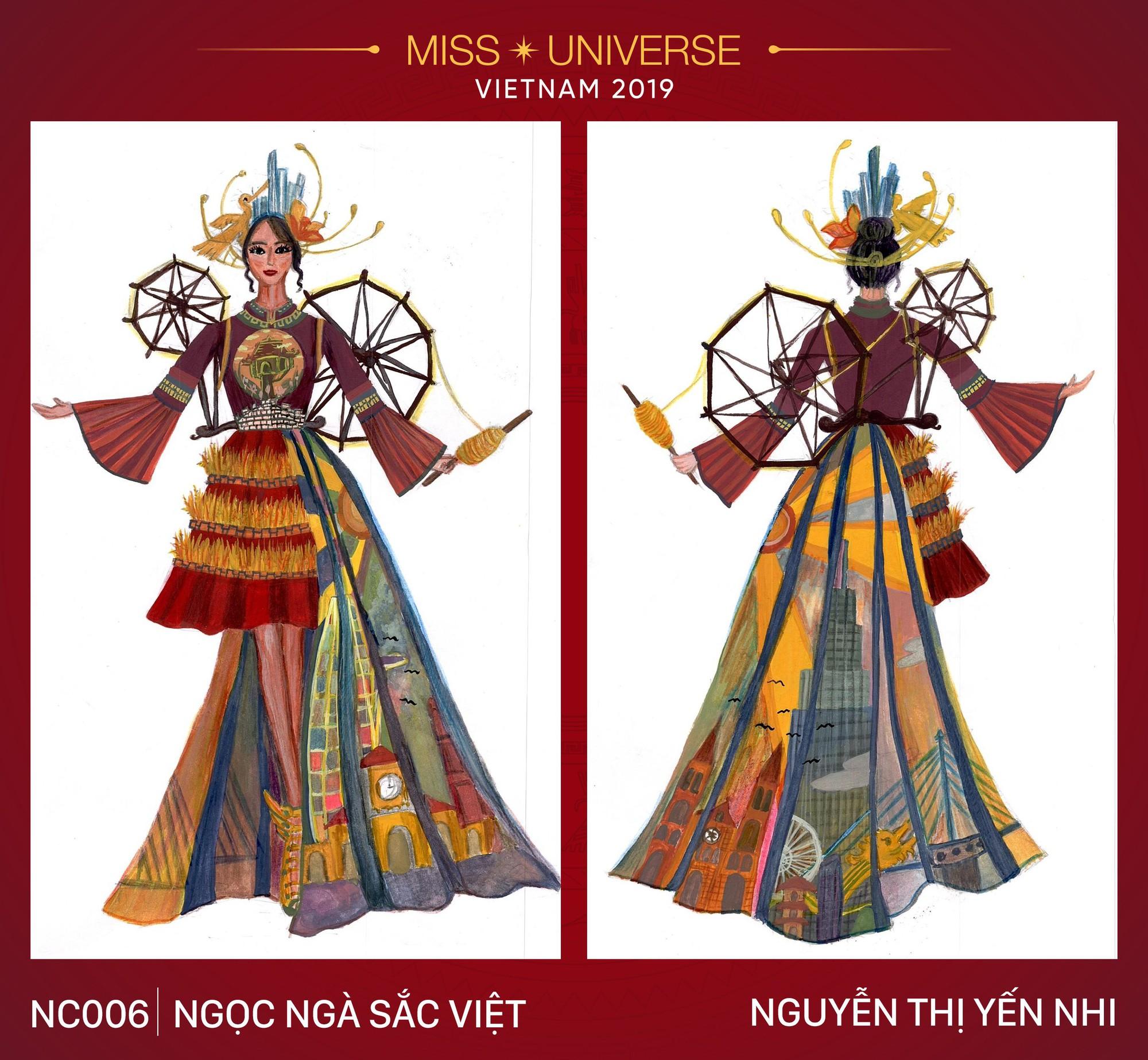 Xích lô, cà phê sữa đá, toà nhà 81 tầng trở thành cảm hứng cho trang phục dân tộc của Hoàng Thùy tại Miss Universe 2019 - Ảnh 6.