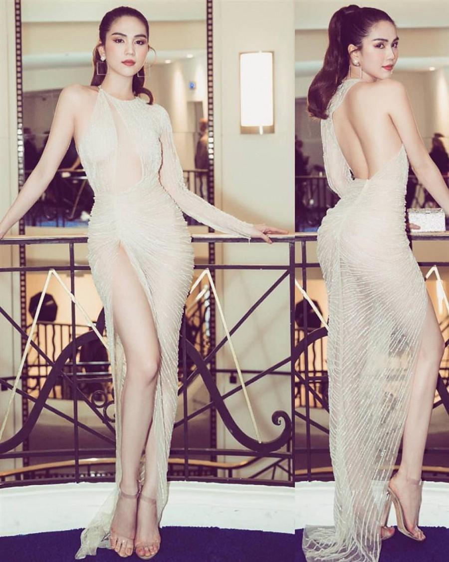 Sau bão gạch đá từ dân mạng, Ngọc Trinh đã chịu ăn mặc kín đáo tại Cannes - Ảnh 5.