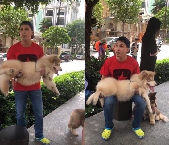 Nam thanh niên dắt chó dọa đánh bảo vệ ở Sài Gòn bị phạt 700.000 đồng - Ảnh 1.
