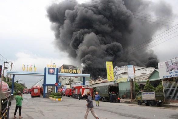 Lửa vẫn cháy cuồn cuộn ở khu công nghiệp sau 5 giờ - Ảnh 5.