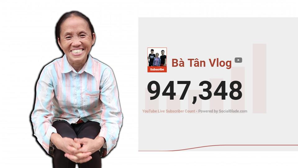 Sốc: Bà Tân Vlog chính thức cán mốc 1 triệu người theo dõi trên YouTube - Ảnh 2.