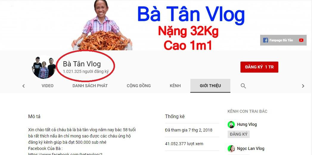 Sốc: Bà Tân Vlog chính thức cán mốc 1 triệu người theo dõi trên YouTube - Ảnh 3.