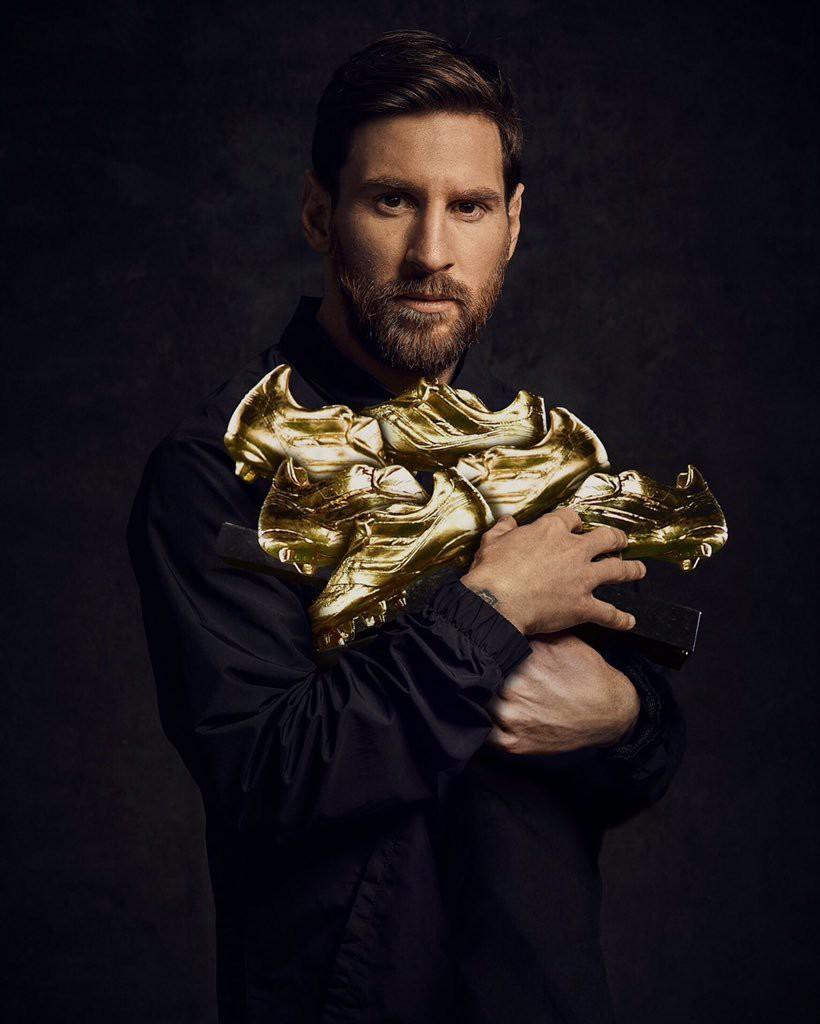 Messi giành Chiếc giày vàng, lập kỷ lục vô tiền khoáng hậu - Ảnh 1.