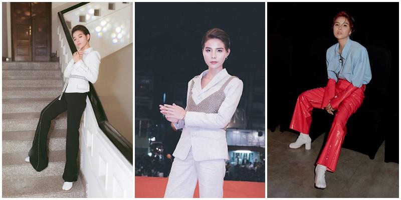 Vũ Cát Tường thay đổi thời trang xoành xoạch: Mặc vest đã bảnh, diện váy còn chất hơn  - Ảnh 2.