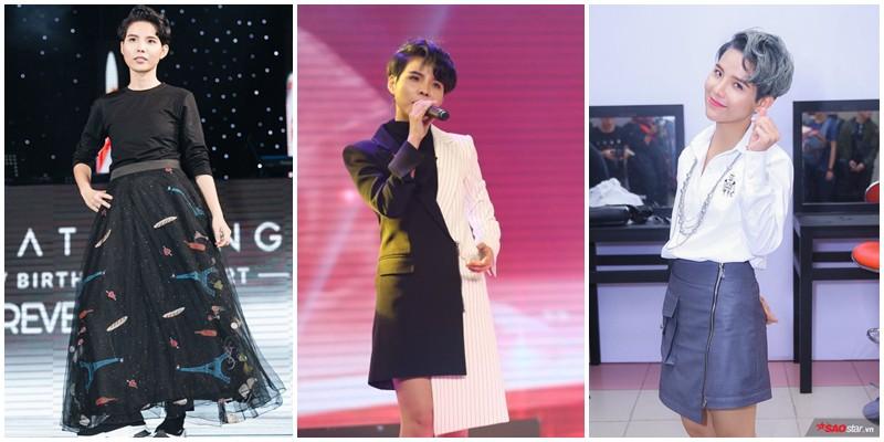 Vũ Cát Tường thay đổi thời trang xoành xoạch: Mặc vest đã bảnh, diện váy còn chất hơn  - Ảnh 5.