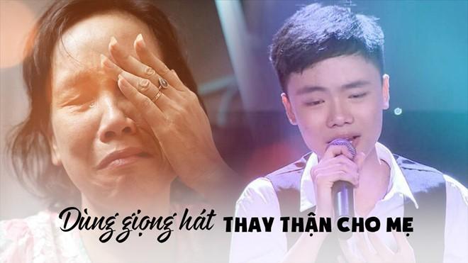 Cậu bé Giọng hát Việt nhí ước mơ dùng giọng hát kiếm tiền thay thận cho mẹ - Ảnh 1.