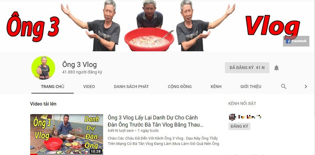 Xuất hiện kênh YouTube ông già 73 tuổi lấy lại danh dự cho cánh đàn ông trước Bà Tân Vlog - Ảnh 3.