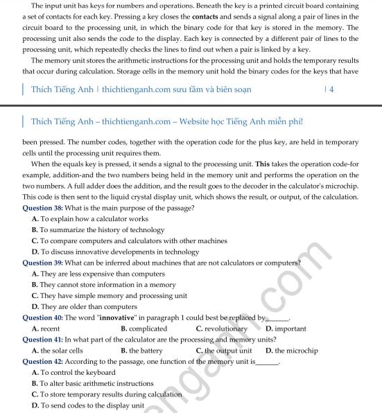 Đề thi thử THPT quốc gia 2019 môn Tiếng Anh Sở GD&ĐT  Hà Nội  - Ảnh 6.