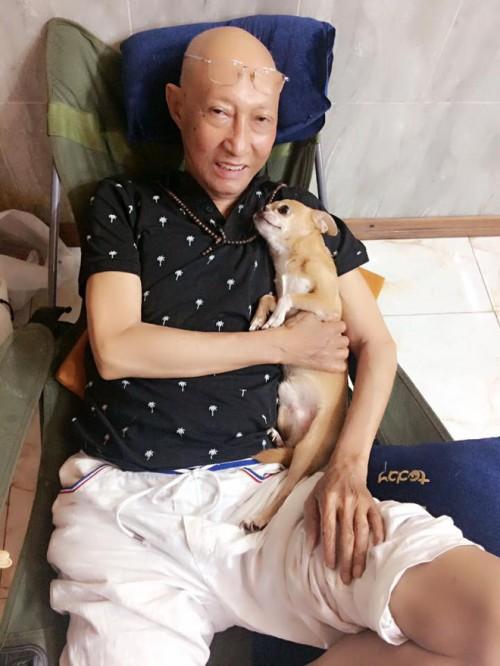 Những hình ảnh cuối cùng của nghệ sĩ Lê Bình và chú chó nhỏ Lucky  - Ảnh 1.