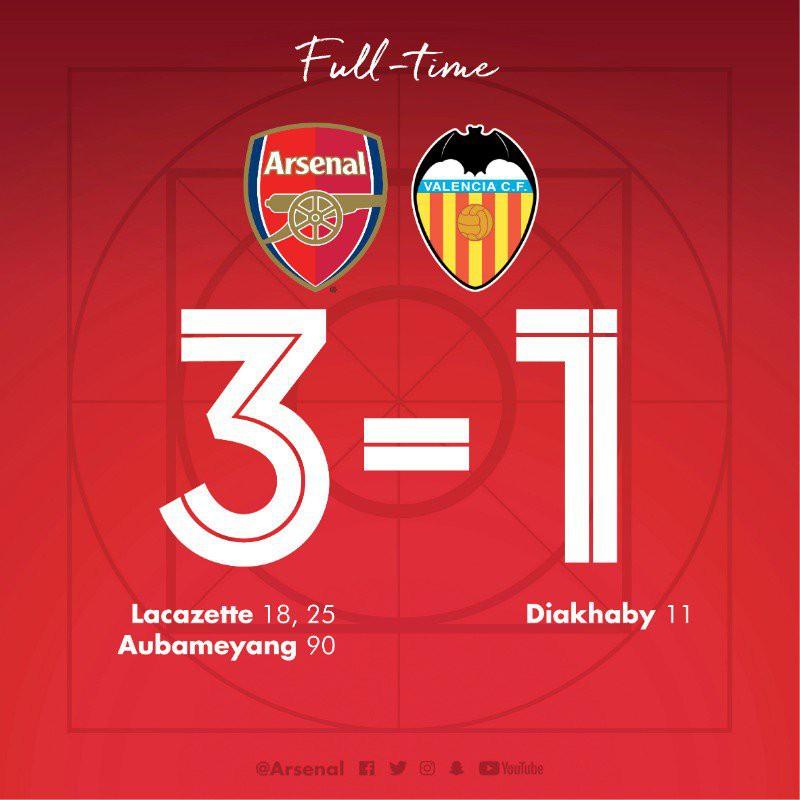 Song sát Aubameyang-Lacazette tỏa sáng, Arsenal đả bại Valencia, tiến sát chung kết Europa League - Ảnh 2.