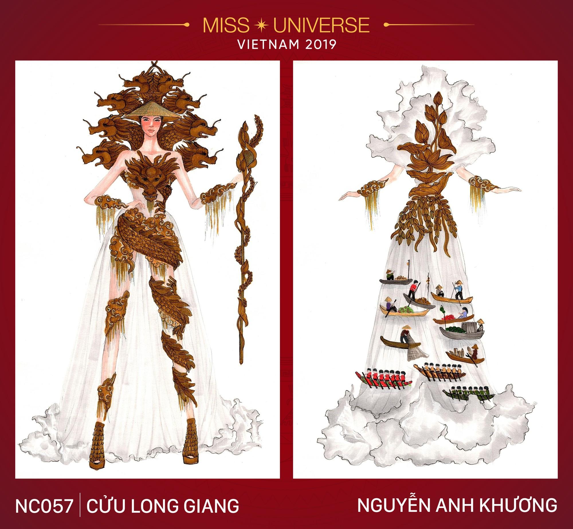 8 mẫu thiết kế dân tộc đang được Á hậu Hoàng Thùy chấm để mang tới Miss Universe 2019  - Ảnh 7.