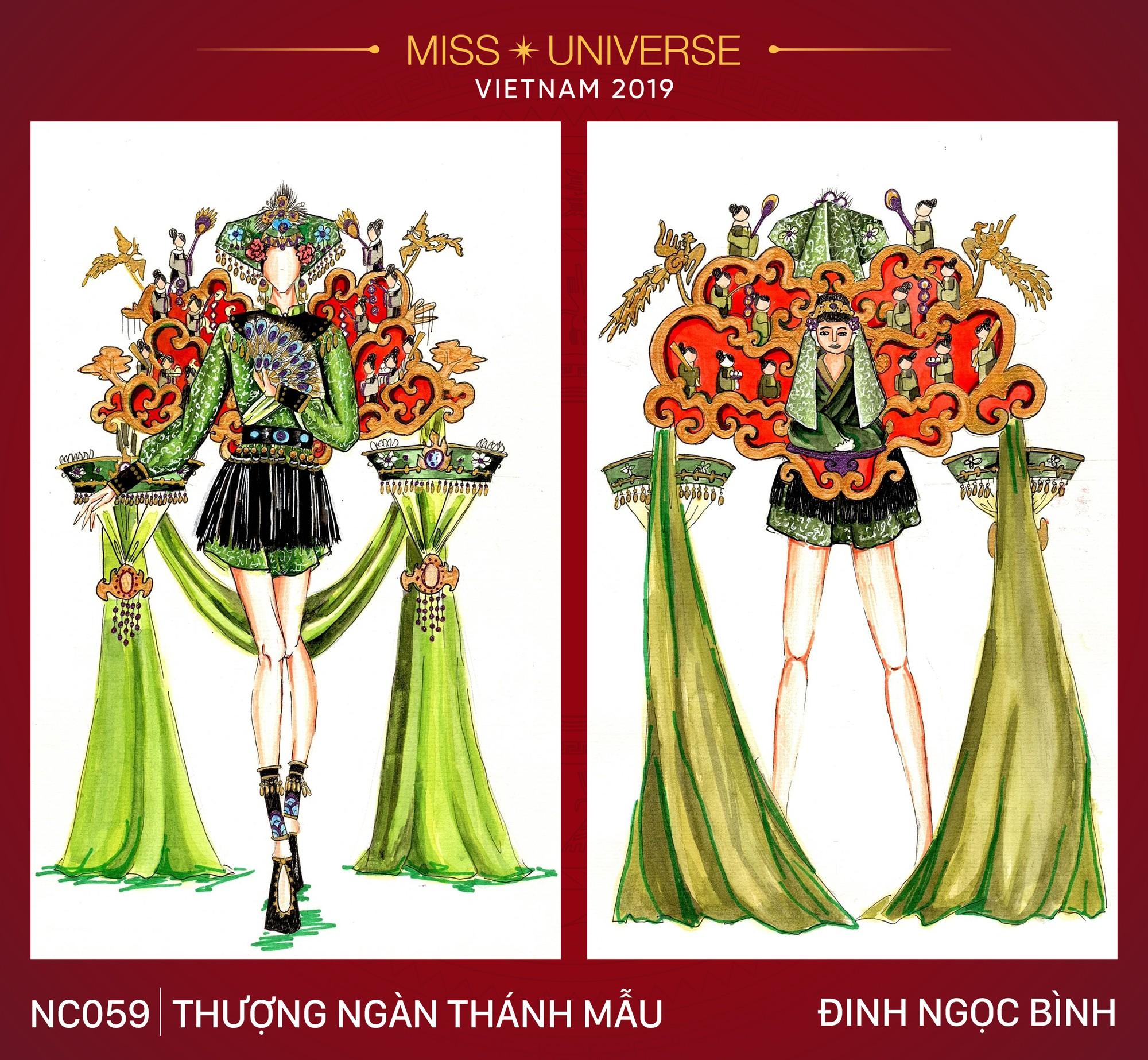 8 mẫu thiết kế dân tộc đang được Á hậu Hoàng Thùy chấm để mang tới Miss Universe 2019  - Ảnh 6.