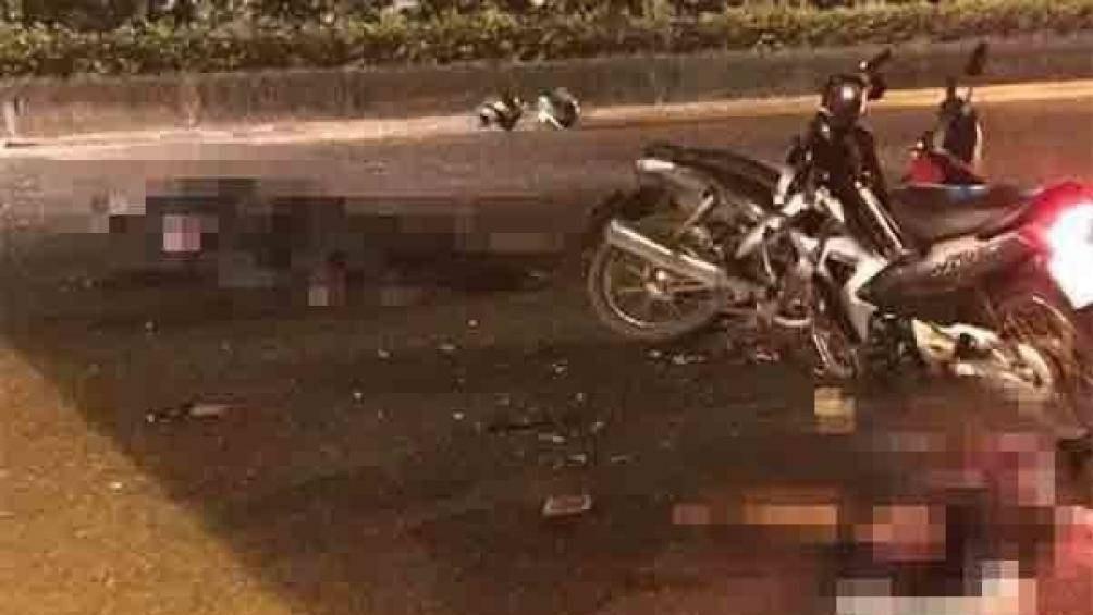 Hà Nội: Đại úy CSCĐ bị xe máy kẹp 3 chạy ngược chiều tông đã tử vong - Ảnh 1.