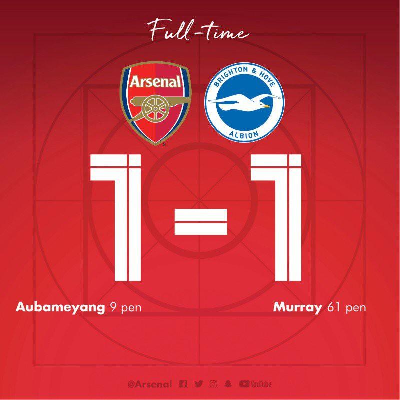 Xhaka mắc sai lầm tai hại, Arsenal để Brighton cầm hòa tiếc nuối, cửa vào top 4 gần như đã khép lại - Ảnh 2.