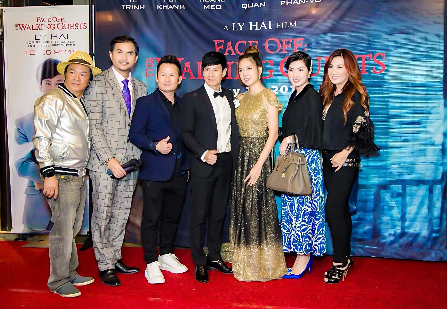 Vợ chồng Lý Hải - Minh Hà rạng rỡ trong ngày đưa phim sang Mỹ - Ảnh 1.