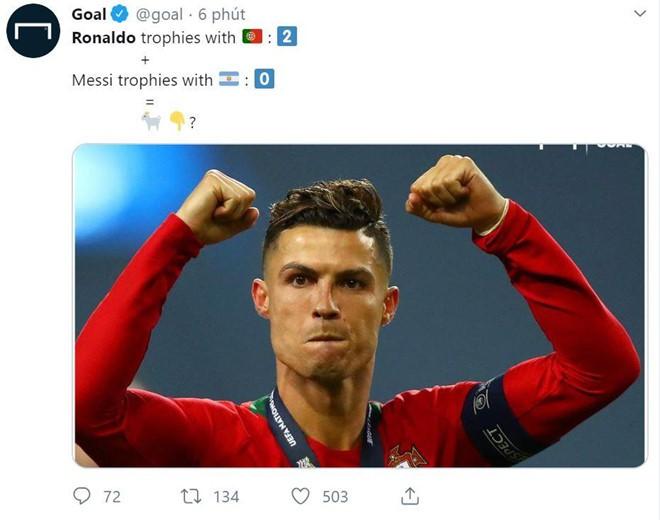 Messi bị chế nhạo trong ngày Ronaldo vô địch Nations League - Ảnh 4.