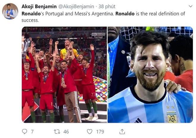 Messi bị chế nhạo trong ngày Ronaldo vô địch Nations League - Ảnh 6.