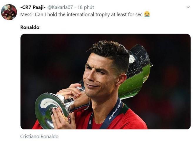 Messi bị chế nhạo trong ngày Ronaldo vô địch Nations League - Ảnh 8.