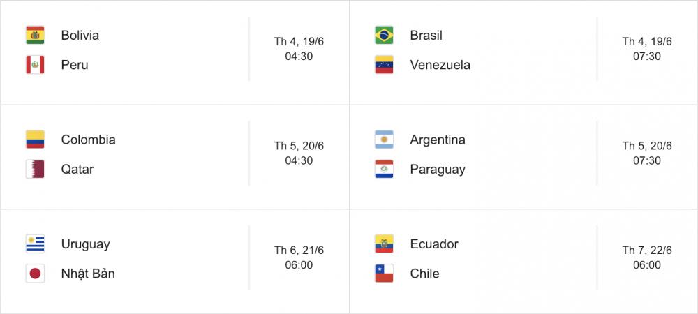 Lịch thi đấu Copa America 2019 mới nhất - Ảnh 2.